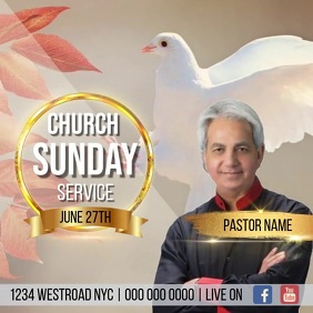 CHURCH SUNDAY SERVICE AD TEMPLATE