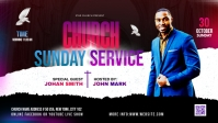 Church Sunday Service ads Facebook Cover Video (16:9) template