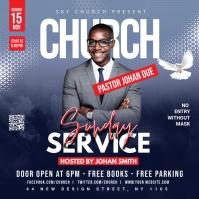 Church Sunday Service ads Instagram 帖子 template