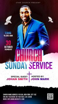 Church Sunday Service ads Instagram Story template