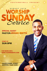 Church Sunday Service ads Poster template