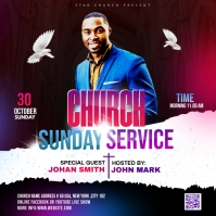 Church Sunday Service ads Pochette d'album template