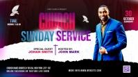 Church Sunday Service ads Twitter Post template
