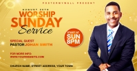 Church Sunday Service ads Publicité Facebook template