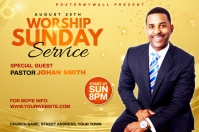 Church Sunday Service ads Label template