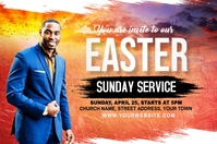 Church Sunday Service Flyer Banner 4' × 6' template