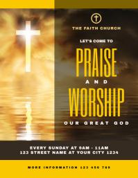 Church Sunday Service Flyer Invitation