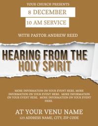 Church Sunday Service Flyer Template