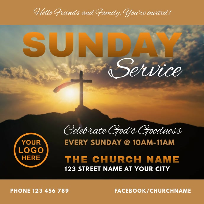 Church Sunday Worship Service