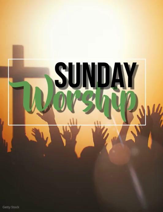 Church Sunday Worship Video Event