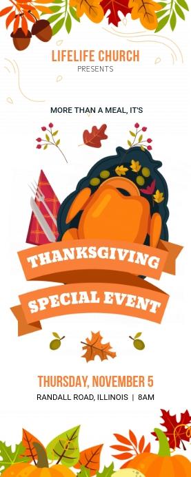 Church Thanksgiving Event Banner Template