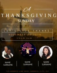 Church Thanksgiving Event Flyer template