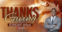 CHURCH thanksgiving ONLINE SERMON TEMPLATE Facebook Event Cover