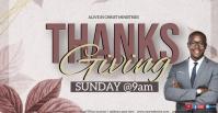 CHURCH thanksgiving ONLINE SERMON TEMPLATE Обложка мероприятия для Facebook