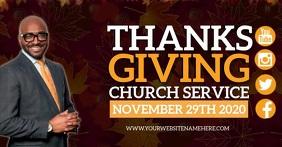 CHURCH THANKSGIVING SERVICE DESIGN TEMPLATE Obraz udostępniany na Facebooku