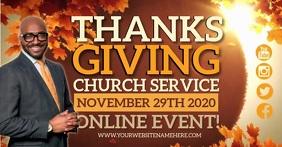 CHURCH THANKSGIVING SERVICE DESIGN TEMPLATE Facebook Shared Image