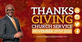 CHURCH THANKSGIVING SERVICE DESIGN TEMPLATE Facebook Shared Image