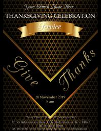 Church Thanksgiving Service Event Template