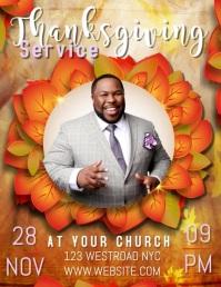 Church Thanksgiving Service Flyer Template