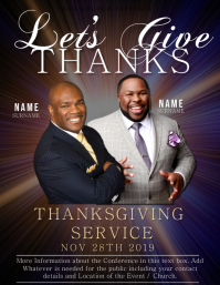 Church Thanksgiving Service Flyer Template