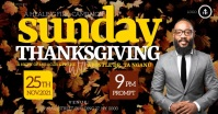 CHURCH THANKSGIVING SERVICE ONLINE TEMPLATE Facebook Shared Image
