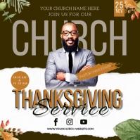 CHURCH THANKSGIVING SERVICE ONLINE TEMPLATE 方形(1:1)