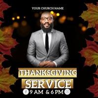 CHURCH THANKSGIVING SERVICE ONLINE TEMPLATE Instagram Post
