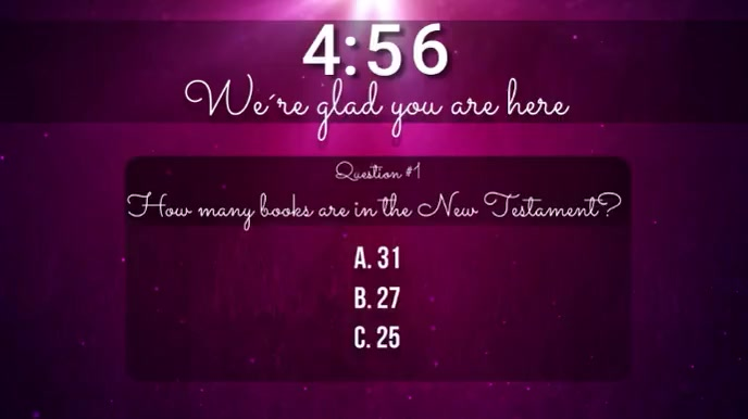 church trivia countdown video Ecrã digital (16:9) template