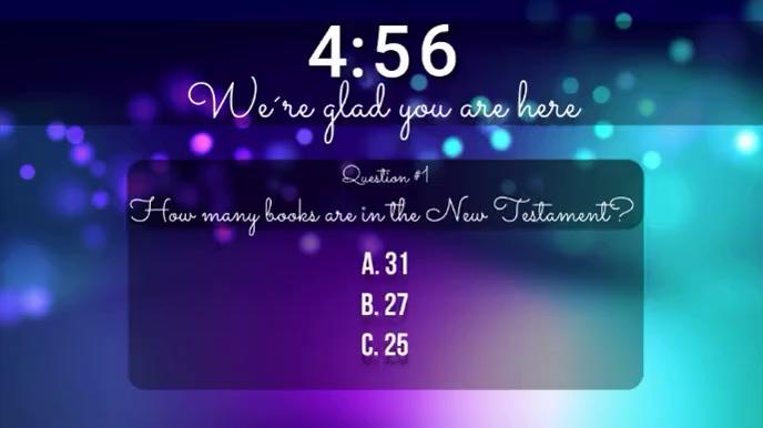 church trivia countdown video Ecrã digital (16:9) template