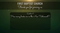 church trivia Digital Display (16:9) template