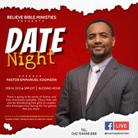 Church Valentine Online Event Poster Quadrat (1:1) template