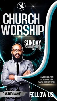CHURCH VIDEO POSTER BACKGROUND Instagram Story template