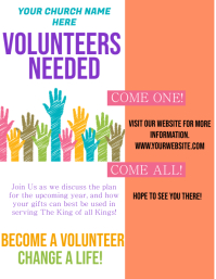 Church Volunteers Needed Flyer Template
