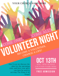 Church Volunteers Needed Flyer Template