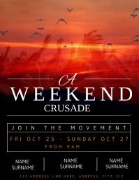 Church Weekend Crusade Event Flyer template