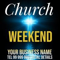 church weekend Message Instagram template