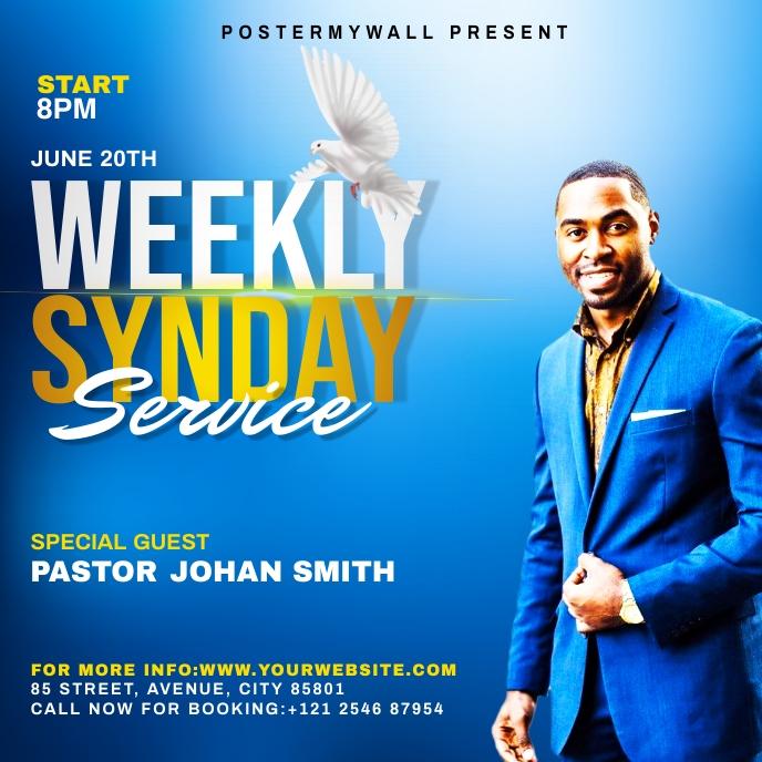 Church weekly service ads 专辑封面 template