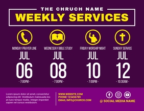 church weekly services Flyer (US Letter) template