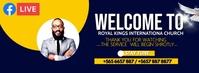 church welcome banner Portada de Facebook template