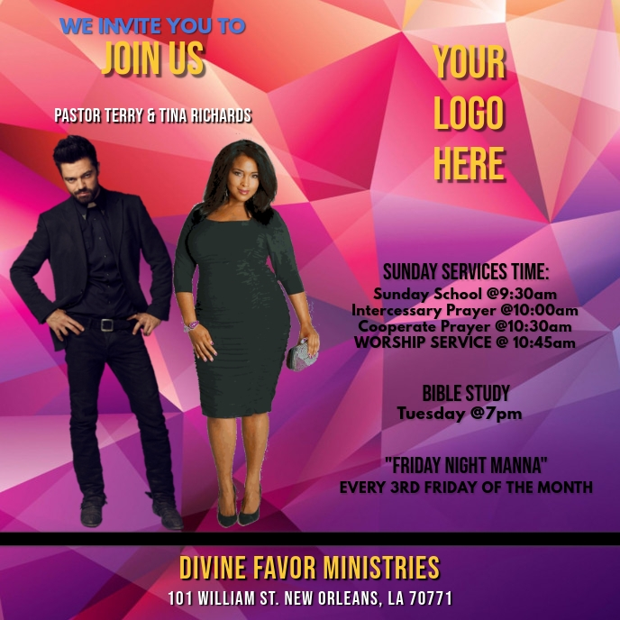 CHURCH WELCOME FLYER Albumcover template