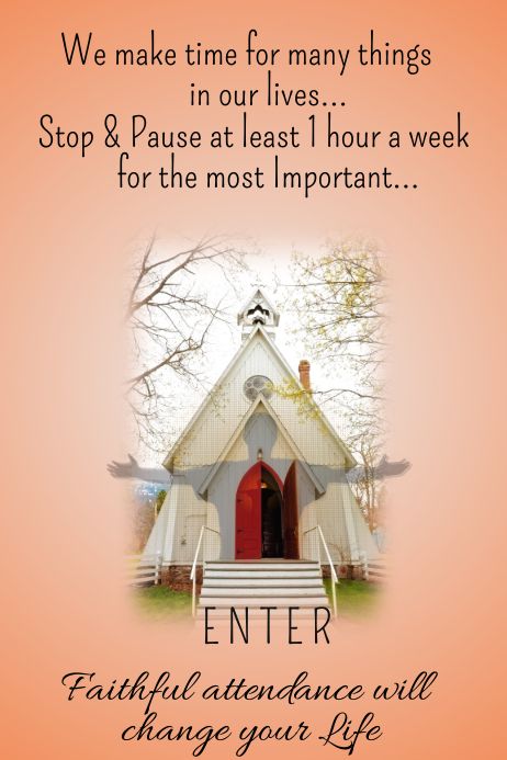 Church Welcome Poster Template