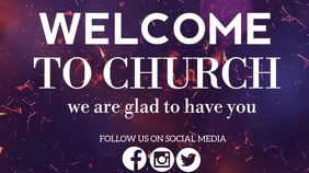 CHURCH WELCOME VIDEO SLIDE TEMPLATE
