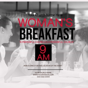 Church Woman's Breakfast Event Template