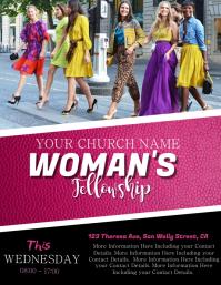 Church Woman's Fellowship Flyer Template
