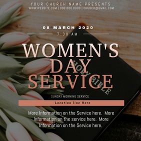 Church Women's Day Event Flyer Template