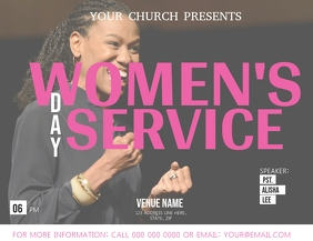 Church Women's Day Service Flyer Template