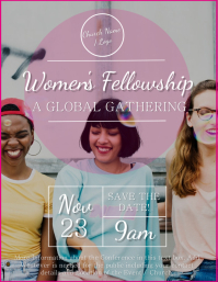 Church Women's Fellowship Flyer Template