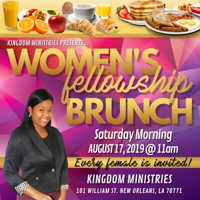 CHURCH WOMEN'S SATURDAY MORNING BRUNCH FLYER