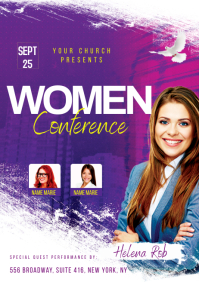 Church Women Conference Flyer Banner 4' × 6' template