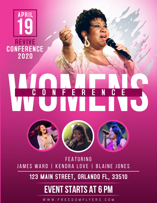 Church Womens Conference Flyer Template ใบปลิว (US Letter)